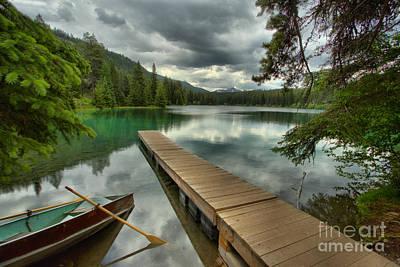 Photograph - Jasper Emerald Lake Boat Dock by Adam Jewell