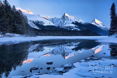 Photograph - Jasper Frosty Pink Peaks by Adam Jewell