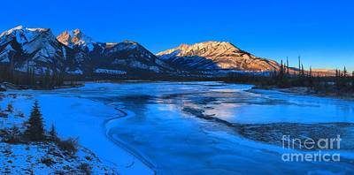 Photograph - Jasper Lake Frozen Sunset by Adam Jewell