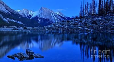 Photograph - Jasper Medicine Lake Panorama by Adam Jewell
