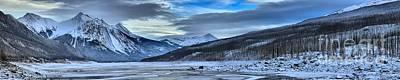 Jasper Medicine Lake Winter Landscape Art Print by Adam Jewell