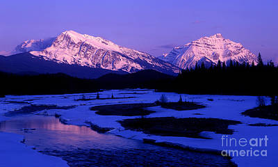 Photograph - Jasper - Mount Hardisty And Mount Kerkeslin Sunset by Terry Elniski