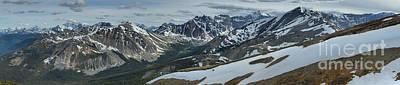 Photograph - Jasper Mountains Panorama by Adam Jewell