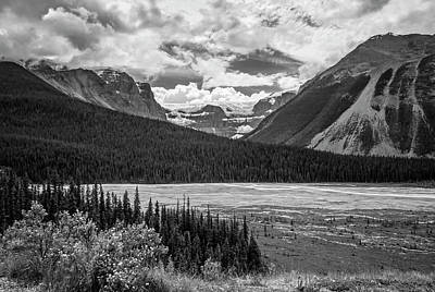 Photograph - Jasper National Park Alberta Canada Bw by Joan Carroll