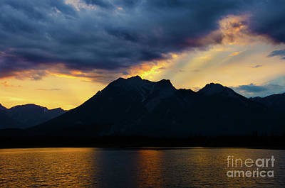 Photograph - Jasper National Park Sunset by Bob Christopher
