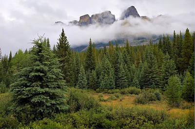 Photograph - Jasper Peaks by Alan Toepfer