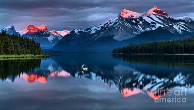 Photograph - Jasper Pink Peaks by Adam Jewell