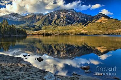 Photograph - Jasper Pyramid Lake by Adam Jewell