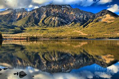 Photograph - Jasper Pyramid Lake Reflections by Adam Jewell