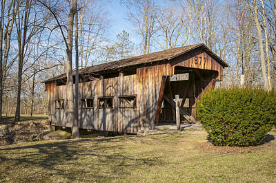 Music Royalty-Free and Rights-Managed Images - Jasper Road/ Mud Lick Covered Bridge by Jack R Perry