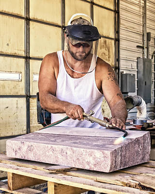 Photograph - Jasper Stone Worker by Patricia Schaefer