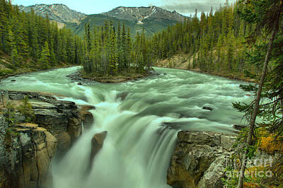 Photograph - Jasper Sunwapta Falls by Adam Jewell
