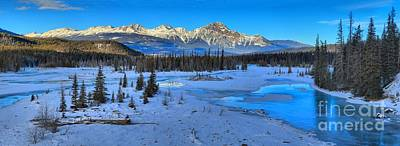 Photograph - Jasper Winter Mountain Panorama by Adam Jewell