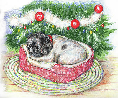 Painting - Jasper's Christmas by Peggy Wilson
