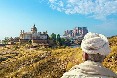 Photograph - Jaswant Thada And Mehrangarh Fort In Rajasthan by Nila Newsom