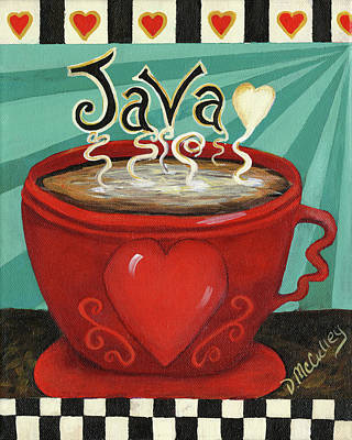 Coffee Painting - Java by Debbie McCulley