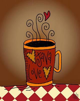 Folkart Mixed Media - Java Love by Jennifer Heath Henry