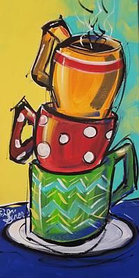 Painting - Java Stack by Terri Einer