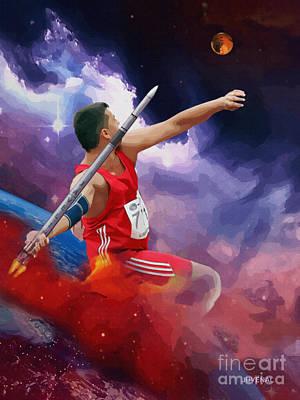 Digital Art - Javelin by Joseph Juvenal