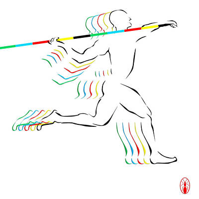 Digital Art - Javelin Thrower by Robert De Monos