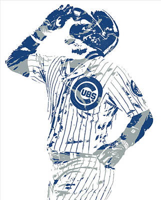 Mixed Media - Javier Baez Chicago Cubs Pixel Art 10 by Joe Hamilton