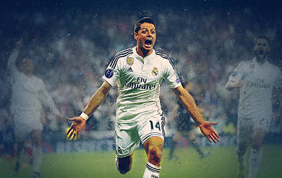 Cristiano Ronaldo Digital Art - Javier Hernandez Balcazar by Semih Yurdabak