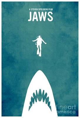Richard Dreyfuss Digital Art - Jaws by Blackwater Studio