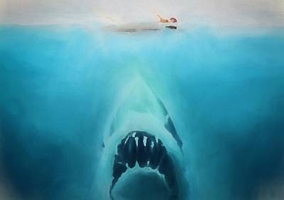 Jaws Art Print by Dan Sproul