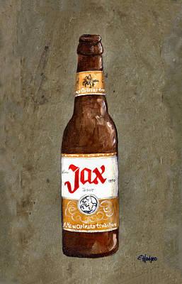 Jax Beer Bottle Art Print by Elaine Hodges