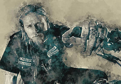 Jax Teller, Sons Of Anarchy Art Print by Dante Blacksmith