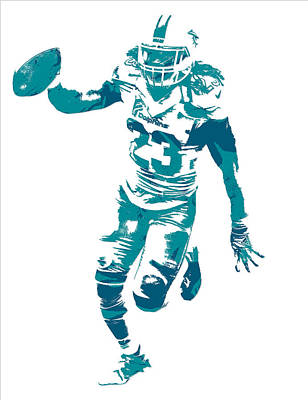 Miami Mixed Media - Jay Ajayi Miami Dolphins Pixel Art 1 by Joe Hamilton