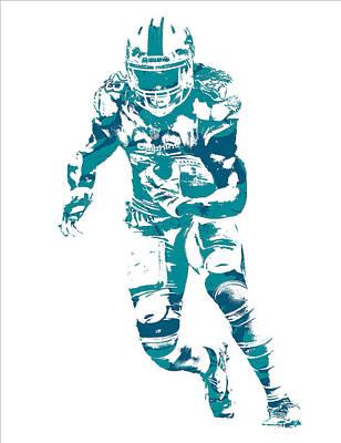 Dolphin Mixed Media - Jay Ajayi Miami Dolphins Pixel Art 10 by Joe Hamilton