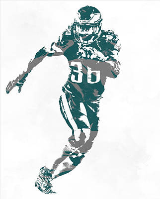 Mixed Media - Jay Ajayi Philadelphia Eagles Pixel Art 1 by Joe Hamilton