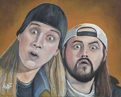 Jason Painting - Jay And Silent Bob by Tom Carlton