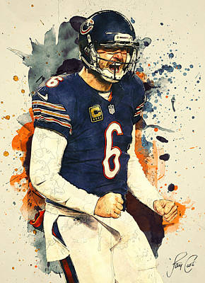 Digital Art - Jay Cutler  by Taylan Apukovska