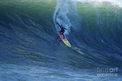 Photograph - Jay Drops In At Mavericks by Stan and Anne Foster