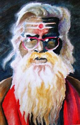 Jay Ganesh Baba Art Print by Claudio  Fiori