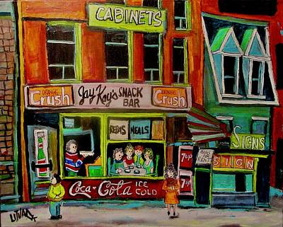 Painting - Jay Kay's Snack Bar by Michael Litvack