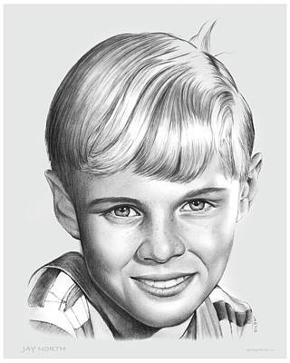 50s Drawing - Jay North by Greg Joens