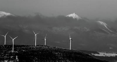 Photograph - Jay Peak Wind Power by Tim Kirchoff
