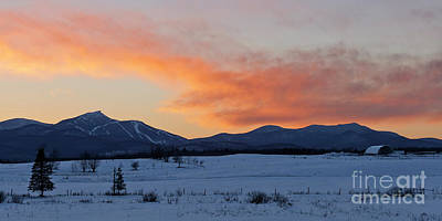 Photograph - Jay Peak Winter Sunset by Alan L Graham