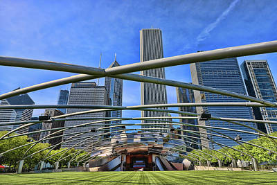 Photograph - Jay Pritzker Music Pavilion - Chicago by Allen Beatty