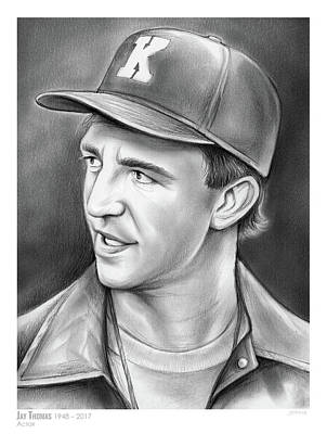 Murphy Drawing - Jay Thomas by Greg Joens
