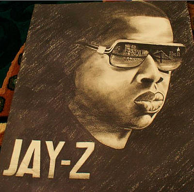 Jay Z Drawing - Jay-z by Calvin Clausell