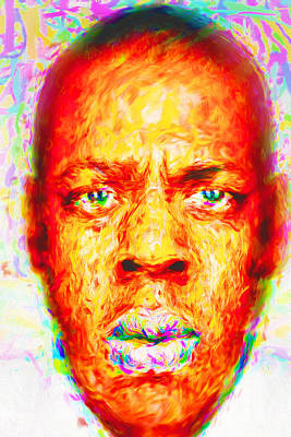 Jay-z Shawn Carter Digitally Painted Art Print by David Haskett