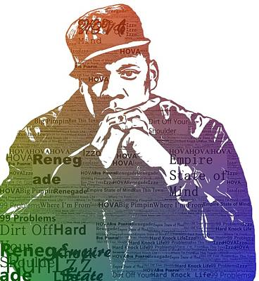 Rapper Digital Art - Jay Z Typography by Dan Sproul