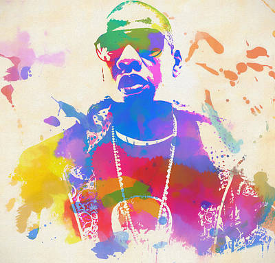 Painting - Jay Z Watercolor by Dan Sproul