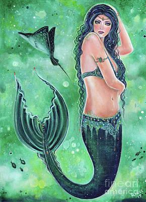 Painting - Jayde Mermaid by Renee Lavoie