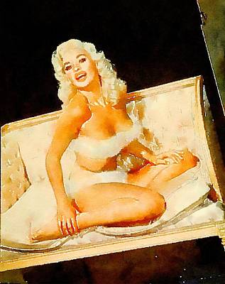 Burlesque Painting - Jayne Mansfield By Frank Falcon by Frank Falcon