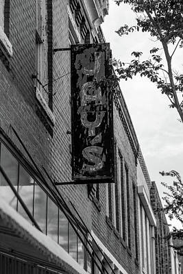 Photograph - Jay's Sign In Bw by Doug Camara